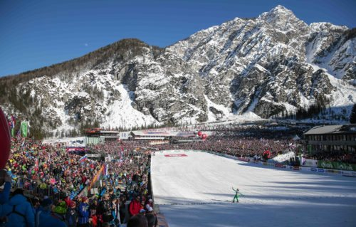 18.03.2016, Planica, Slovenia (SLO): Crowded landing in Planica   - FIS world cup ski flying, individual HS225, Planica (SLO). www.nordicfocus.com. © Modica/NordicFocus. Every downloaded picture is fee-liable.