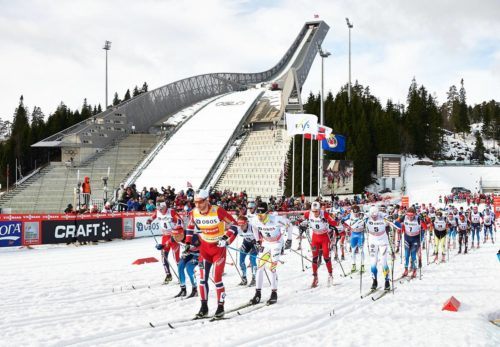 08.03.2014, Oslo, Norway (NOR): start - FIS world cup cross-country, mass men, Oslo (NOR). www.nordicfocus.com. © Felgenhauer/NordicFocus. Every downloaded picture is fee-liable.