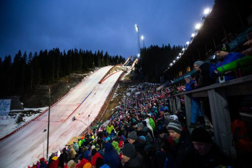 07.03.2014, Trondheim, Norway (NOR): spectators at the stadium - FIS world cup ski jumping, individual HS138, Trondheim (NOR). www.nordicfocus.com. © Laiho/NordicFocus. Every downloaded picture is fee-liable.