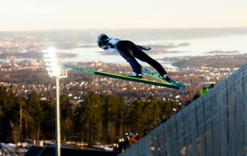 13.03.2015, Oslo, Norway (NOR): Carina Vogt (GER), Fischer - FIS world cup ski jumping ladies, individual HS134, Oslo (NOR). www.nordicfocus.com. © Laiho/NordicFocus. Every downloaded picture is fee-liable.