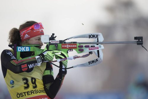 03.12.2016, Oestersund, Sweden, (SWE): Laura Dahlmeier (GER) - IBU world cup biathlon, sprint women, Oestersund (SWE). www.nordicfocus.com. © Manzoni/NordicFocus. Every downloaded picture is fee-liable.