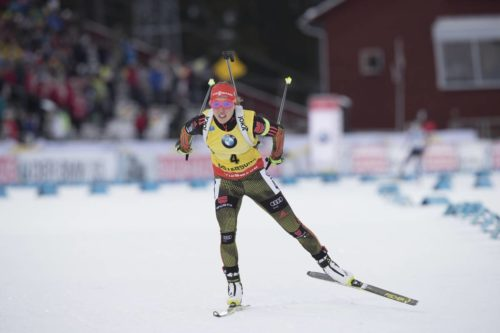 04.12.2016, Oestersund, Sweden, (SWE): Laura Dahlmeier (GER) - IBU world cup biathlon, pursuit women, Oestersund (SWE). www.nordicfocus.com. © Manzoni/NordicFocus. Every downloaded picture is fee-liable.