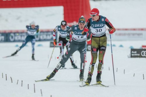 04.12.2016, Lillehammer, Norway (NOR): Samuel Costa ( ITA ), Vinzenz Geiger ( GER ), (l-r) - FIS world cup nordic combined, individual gundersen HS138/10km, Lillehammer (NOR). www.nordicfocus.com. © Modica/NordicFocus. Every downloaded picture is fee-liable.